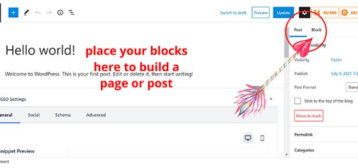 WP block editor 2