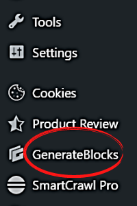gb on dashboard How to Install GenerateBlocks on Your Website