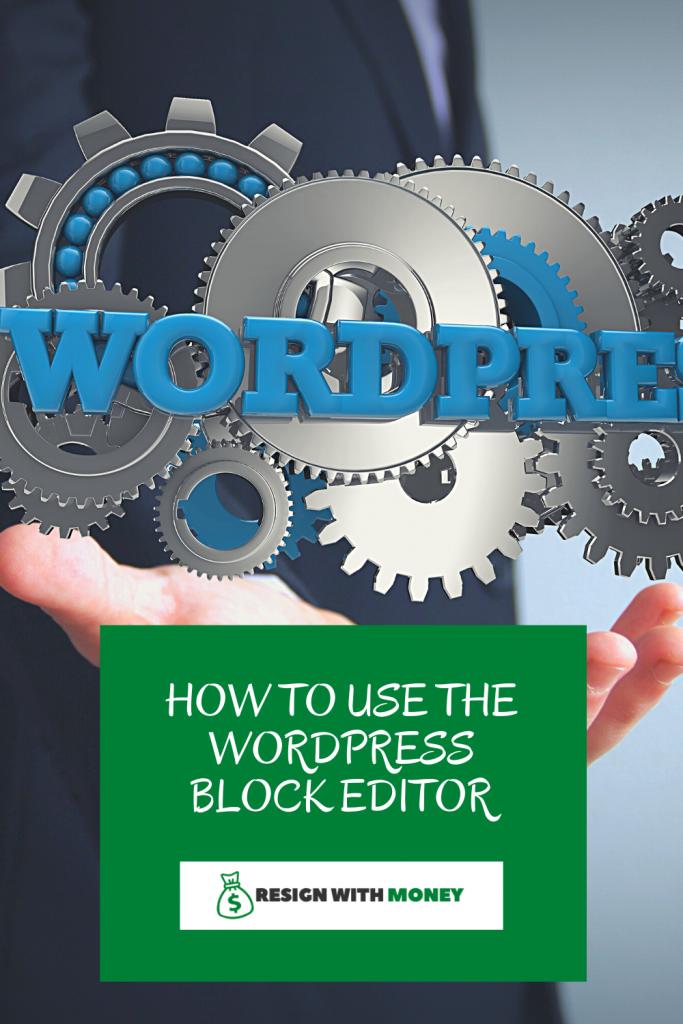 how to use the wordpress block editor pin pin