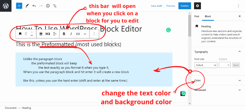 preformatted block2