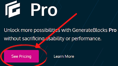 see pricing How to Install GenerateBlocks on Your Website