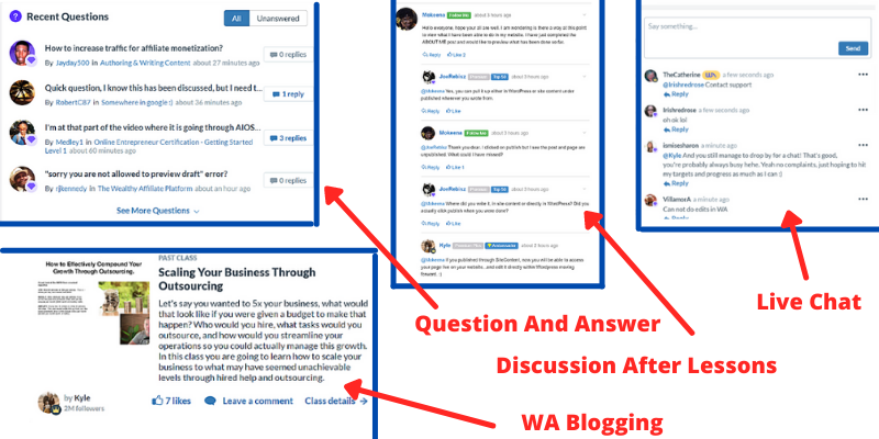 tutorials and support at WA