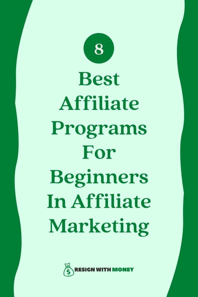 affiliate programs for beginners pin
